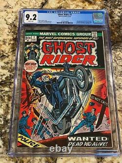 Ghost Rider #1 Cgc 9.2 Rare White Pages Looks Nicer! Hot Book! Newsstand Fresh