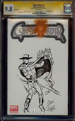 Ghost Rider 1 Cgc 9.8 Ss Dick Ayers Full Body Creater Sketch Art Mint Super Rare