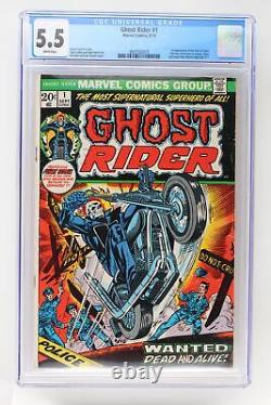 Ghost Rider #1 Marvel 1973 CGC 5.5 1st Appearance of the Son of Satan