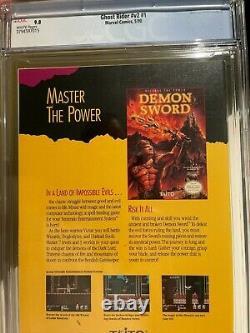 Ghost Rider #1 V2 CGC 9.8 1st App Of Dan Ketch, Deathwatch (Marvel, 1990)