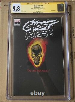 Ghost Rider (2019) #1 CGC 9.8 Signed & Sketched By Mark Texeira Variant Texiera