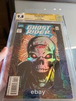 Ghost Rider 2099 1 CGC 9.8 SS Signed and Remarqued by Chris Bachalo withcards