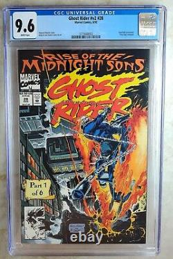 Ghost Rider #28 Marvel 1992 Midnight Sons Lilith CGC 9.6 NM+ WhiteP Comic T0003