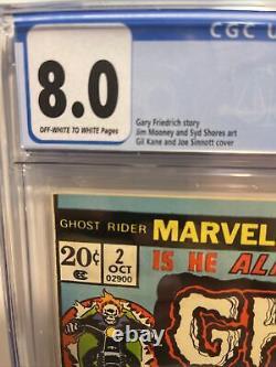 Ghost Rider #2 1973 CGC 8.0 1st Full Daimon Hellstrom 1st Cameo Son Of Satan VF