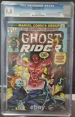 Ghost Rider #2 CGC 9.8 White Pages 1st App of Daimon Hellstrom Son of Satan