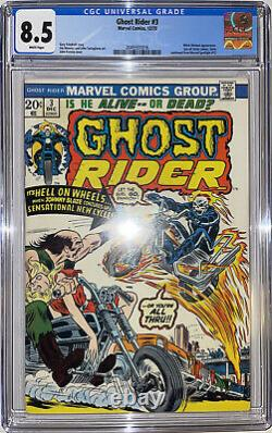Ghost Rider #3 CGC 8.5 3rd Son of Satan 1973 1st Cycle Of Fire