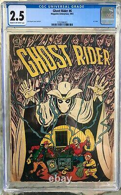 Ghost Rider #6 (1951) CGC 2.5 - Dick Ayers safecracking Magazine Enterprises