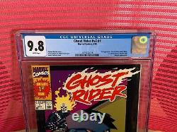 Ghost Rider #V2 #1 CGC 9.8 White Pages 1st App Dan Ketch, 1st App Deathwatch