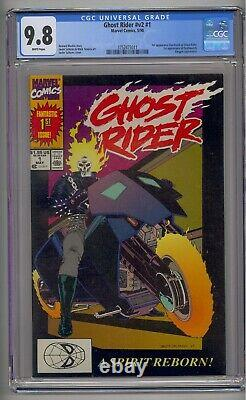 Ghost Rider V. 2 #1 Cgc 9.8 1st Dan Ketch As Ghost Rider White Pages 1st Print