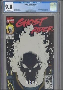 Ghost Rider #v2 #15 CGC 9.8 1991 Marvel Black Glow-in-Dark Cover New Frame