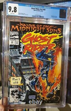 Ghost Rider v2 28 CGC 9.8 First Midnight Sons White Pages