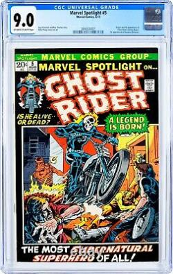 MARVEL SPOTLIGHT #5 1ST APPEARANCE GHOST RIDER HUGE KEY! CGC 9.0 OWithW PAGES