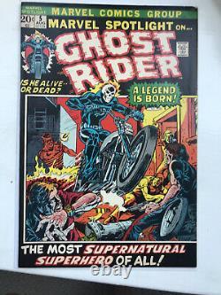 MARVEL SPOTLIGHT 5 1st Appearance GHOST RIDER Johnny Blaze! CGC it! 1972