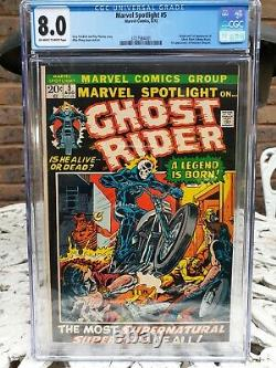 MARVEL SPOTLIGHT 5 1st GHOSTRIDER CGC 8.0 WithOW PGS RED HOT BRONZE AGE MEGA KEY