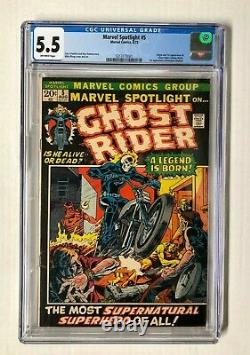MARVEL SPOTLIGHT #5 1st GHOST RIDER, CGC 5.5 off-white pages, 1972 Marvel