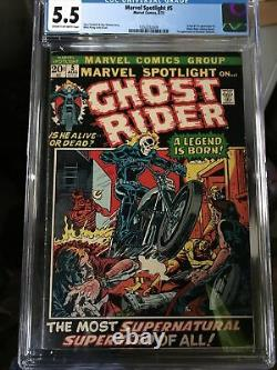 MARVEL SPOTLIGHT #5 CGC 5.5 1st GHOST RIDER CREAM TO OFF WHITE PAGES FN