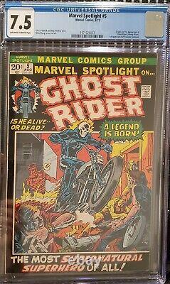MARVEL SPOTLIGHT 5 CGC 7.5 1st Appearance & Origin of GHOST RIDER
