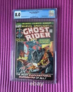 MARVEL SPOTLIGHT #5 CGC 8.0 1st Johnny Blaze Ghost Rider, 1972