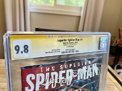Marvel Comics 1st Print Superior Spider-Man #1 CGC 9.8 SS Signed By Stan Lee