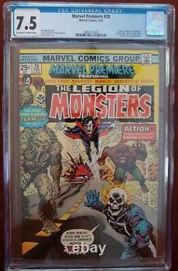Marvel Premiere 28 CGC 7.5 1st Legion of Monsters Morbius Ghost Rider! Gorgeous