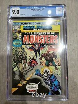 Marvel Premiere #28 CGC (9.0) 1st Appearance of LEGION OF MONSTERS White Pages