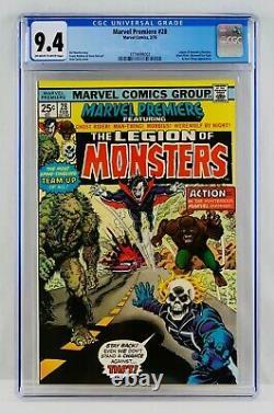 Marvel Premiere #28 CGC 9.4 NM Monsters Morbius Ghost Rider Werewolf Man-Thing