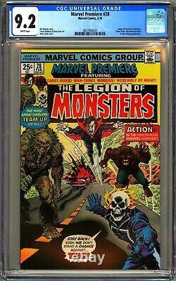 Marvel Premiere #28 Cgc 9.2 Wp Nm- Legion Of Monsters Ghost Rider Morbius