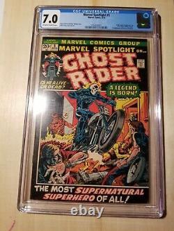 Marvel Spotlight #5 1st App Ghost Rider CGC 7.0 Ploog Art 1972