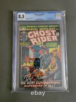 Marvel Spotlight # 5 1st App Ghost Rider Johnny Blaze Roxanne Simpson CGC 8.5