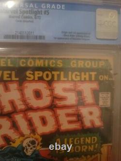 Marvel Spotlight 5 1st Ghost Rider MCU spec book hot CGC 1.8