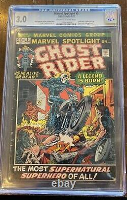 Marvel Spotlight #5 1st apperance of Ghost Rider Graded 3.0 CGC NDS Insert