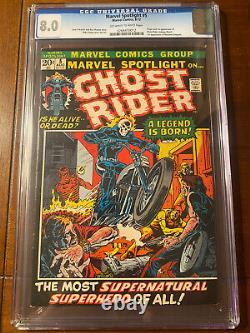 Marvel Spotlight #5 8/72 Cgc 8.0 Oww First Ghost Rider! Very Nice Key Book