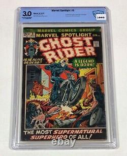 Marvel Spotlight #5 CBCS 3.0 KEY! (1st Ghost Rider & Origin!) 1972 Marvel Comics