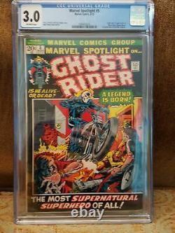 Marvel Spotlight #5 CGC 3.0 1st Appearance Ghost Rider KEY COMIC