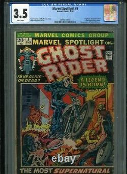 Marvel Spotlight #5 CGC 3.5 OWW 1st Appearance + Origin of Ghost Rider