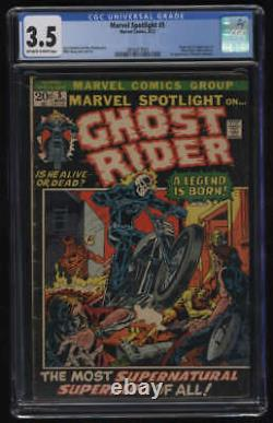 Marvel Spotlight #5 CGC 3.5 OWithW Pgs 1st Appearance Ghost Rider Johnny Blaze