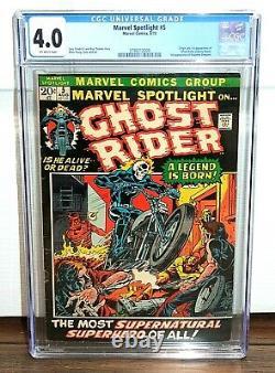 Marvel Spotlight #5 CGC 4.0 -1972- Origin 1st App Ghost Rider Original Owner