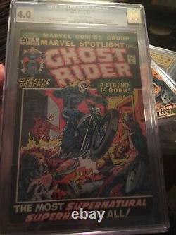 Marvel Spotlight #5 CGC 4.0 OWithW Origin & 1st Ghost Rider OLD CASE / UNPRESSED