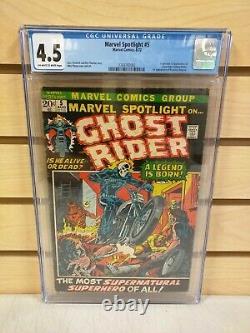 Marvel Spotlight #5 CGC 4.5 (Marvel Comics 1972) First Appearance of Ghost Rider