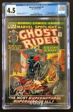 Marvel Spotlight #5 CGC 4.5 owithw. Origin & 1st App Ghost Rider. A Legend is Born