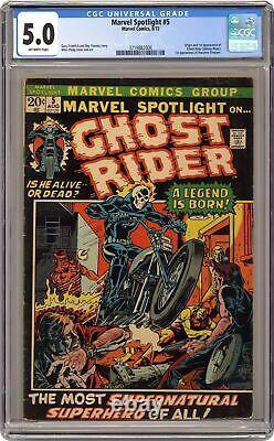 Marvel Spotlight #5 CGC 5.0 1972 3719882006 1st app. And origin Ghost Rider