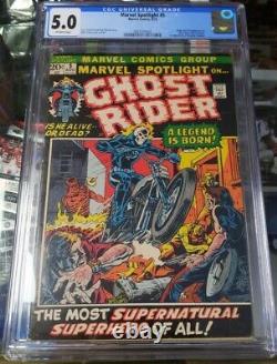 Marvel Spotlight #5 CGC 5.0 1st GHOST RIDER Marvel Comics 1972