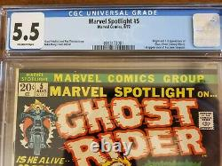 Marvel Spotlight #5 CGC 5.5 1st Ghost Rider 1972