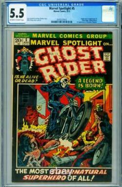 Marvel Spotlight #5 CGC 5.5 1st appearance Ghost Rider comic 1972 2070127015