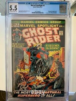 Marvel Spotlight #5 CGC 5.5 Ghost Rider 1st appearance & origin KEY marvel comic