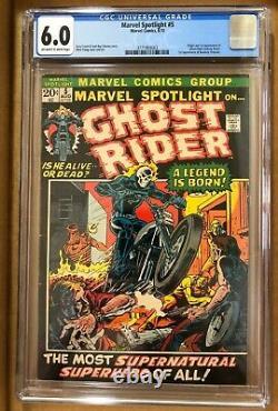 Marvel Spotlight #5 CGC 6.0 owithw. Origin & 1st App Ghost Rider. A Legend is Born