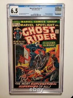 Marvel Spotlight #5 CGC 6.5 1972 1st appearance of Ghost Rider. Get now