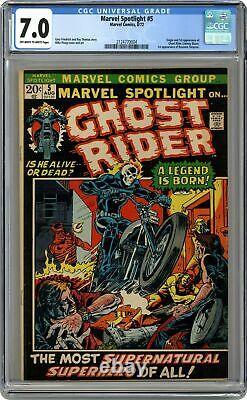Marvel Spotlight #5 CGC 7.0 1972 2124770004 1st app. And origin Ghost Rider