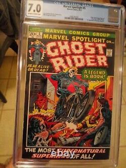 Marvel Spotlight #5 CGC 7.0 OWithW Origin & 1st Appearance of Ghost Rider HOT