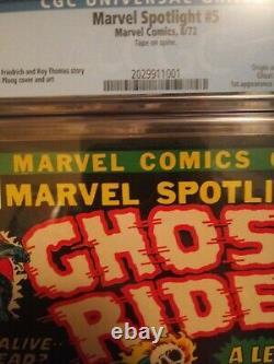 Marvel Spotlight #5 CGC 7.0 Origin & 1st Appearance of Ghost Rider